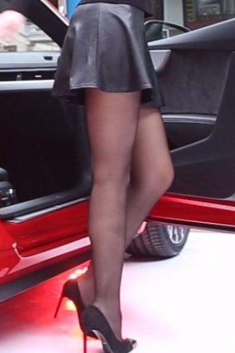 black pantyhose super legs model in high heels 17