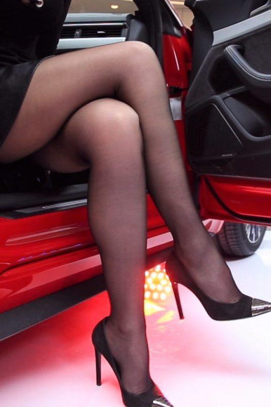 pantyhose super legs model in high heels 14
